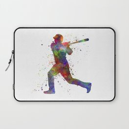Baseball player hitting a ball 05 Laptop Sleeve