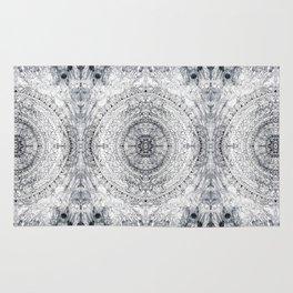 Black&white Mandala - & Grey Blue Rug