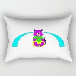 Raccoon Crybaby (Blue Tears) Rectangular Pillow