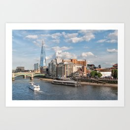London Skyline and River Thames Art Print