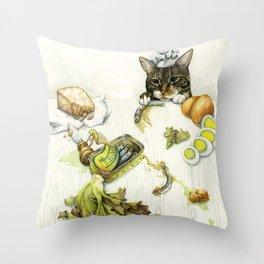 Caesar Salad Throw Pillow