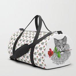 Valentine's Cat Duffle Bag
