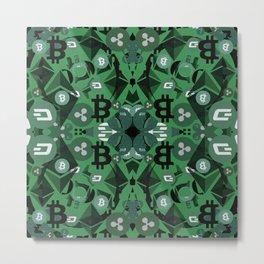Beautiful cryptocurrencies pattern Metal Print