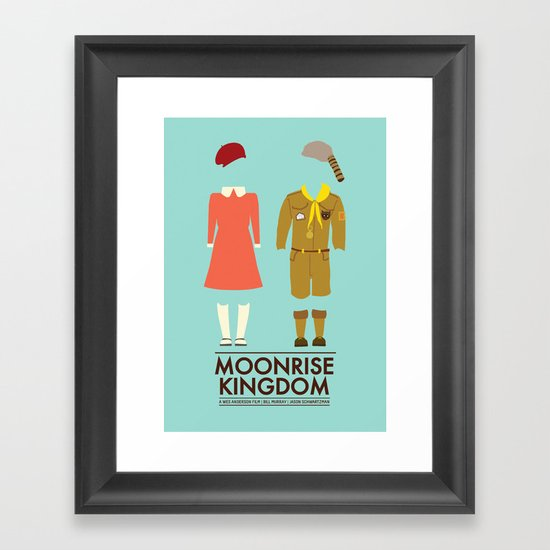 Moonrise Kingdom Poster Framed Art Print