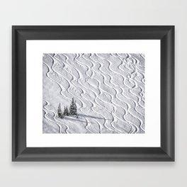 Powder tracks Framed Art Print