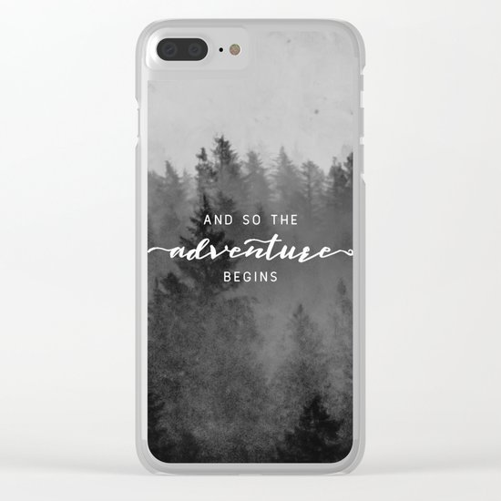 And So The Adventure Begins III Clear iPhone Case