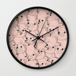 Litlle piggies Wall Clock