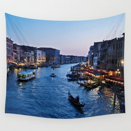 Venice at dusk - Il Gran Canale Wall Tapestry