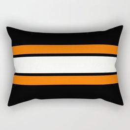 TEAM COLORS 2...Orange Rectangular Pillow