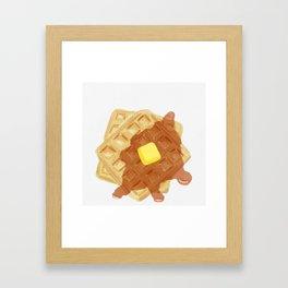 Waffles Framed Art Print