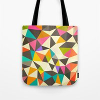 mod Tote Bags featuring Mod Tris by Beth Thompson