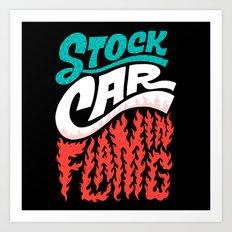 Stock Car Flaming Art Print
