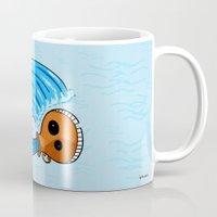 aquarius Mugs featuring Aquarius by Giuseppe Lentini
