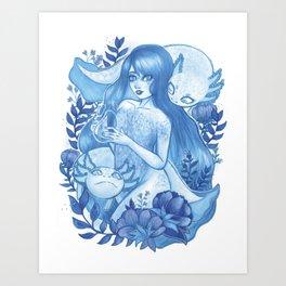 Blue Ninfa Art Print