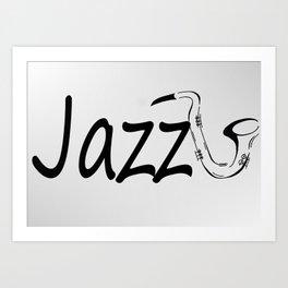 Jazz Logo Art Print
