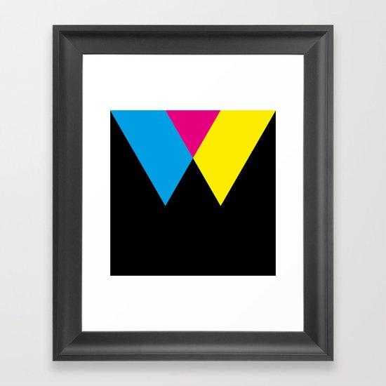 W like W Framed Art Print