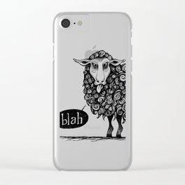 Blah! Clear iPhone Case