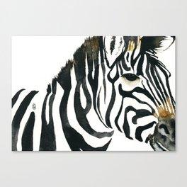 Zebra my love Canvas Print