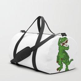 Retro Pixelated 8-Bit T Rex Dinosaur Duffle Bag