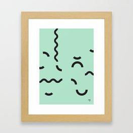 OY! green Funfetti Framed Art Print