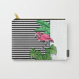 Tropical Flamingo Design Carry-All Pouch