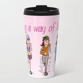 Running girl Travel Mug