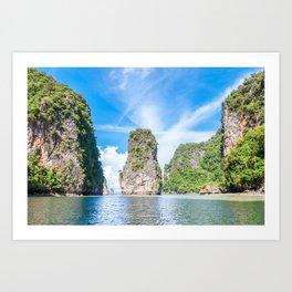 Islets in Phang Nga Bay Art Print