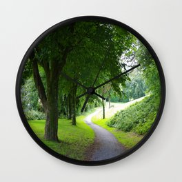 The Path To Wellbeing Wall Clock