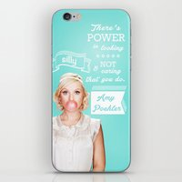 amy poehler iPhone & iPod Skins featuring Word of Amy Wisdom by abbygoaway