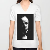 the godfather V-neck T-shirts featuring the godfather  by Fotis