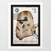 STORMTROOPER Vintage Stamp STAR.WARS Digital Art Art Print