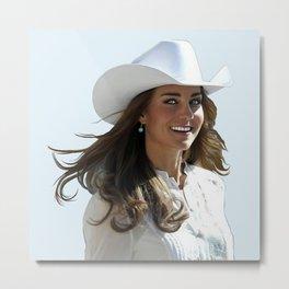 Kate Middleton - Duchess of Cambridge Metal Print