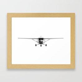 Cessna 152 Front view Framed Art Print