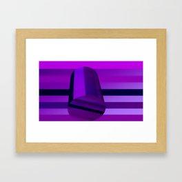 Cylinder and stripes Framed Art Print