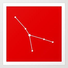 Cancer (White & Red) Art Print