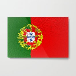 Extruded flag of Portugal Metal Print