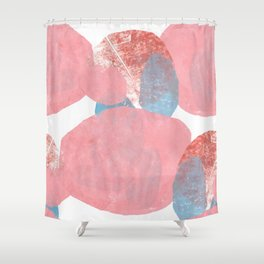 Hide and Seek Graphic Abstract Print Shower Curtain