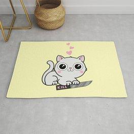 Kitty Hearts Kill - Cats Love Plotting Rug