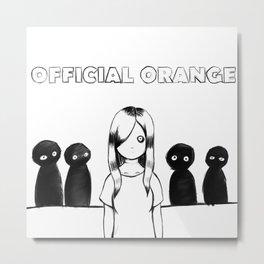 Official orange Metal Print