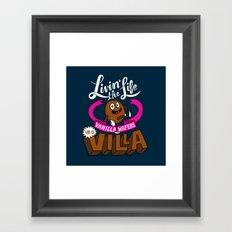 Livin' the Life, Vanilla Wafers in a Villa Framed Art Print