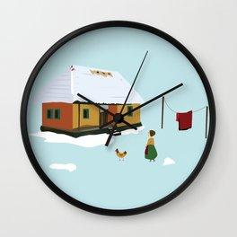 Winter nostalgia Wall Clock