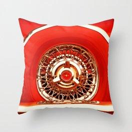 Red T-Bird Throw Pillow