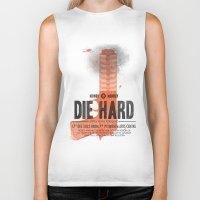 die hard Biker Tanks featuring Die Hard (Full poster variant) by Wharton