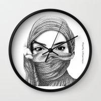 kiki Wall Clocks featuring Kiki by BenHucke