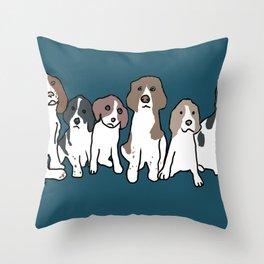English Springer Spaniels Throw Pillow