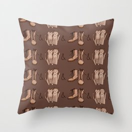 BOOTS & CATS Throw Pillow