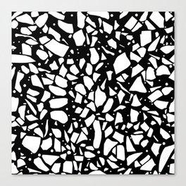 Terrazzo Spot 2 Black Canvas Print