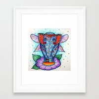 baby elephant Framed Art Prints featuring Baby elephant  by oxana zaika