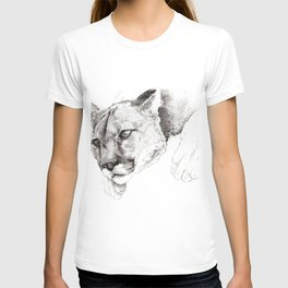 Sketch Of A Captived Mountain Lion T-shirt