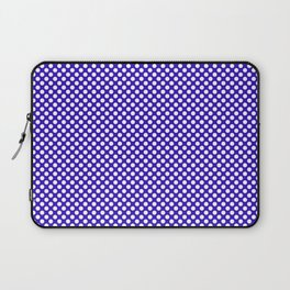 Blue Gem and White Polka Dots Laptop Sleeve